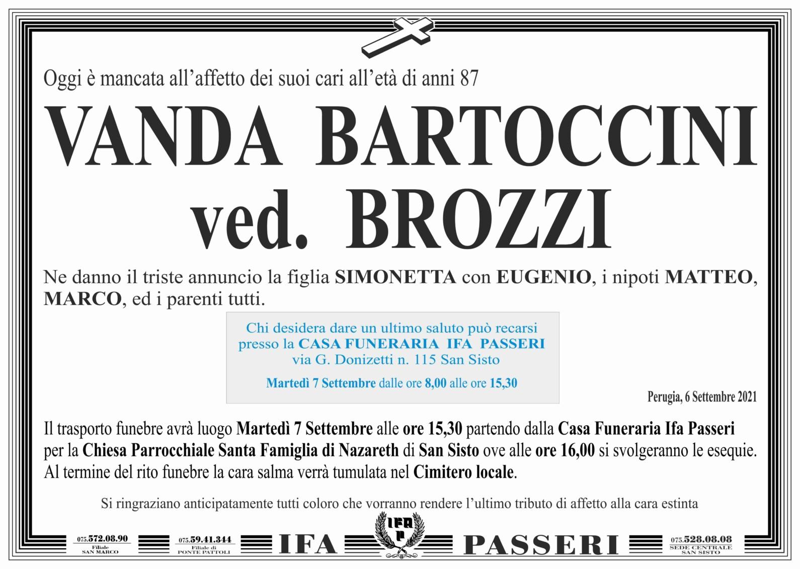 Vanda Bartoccini ved. Brozzi